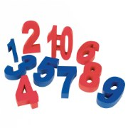 3 years & up. These numbers teach value, weight and early number skills.  Each number is spelled out on the back to reinforce word recognition and odd and even numbers are color-coded. Great for the weighting scales. Set of 10