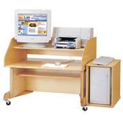 Mobile Computer Desk & CPU Stand