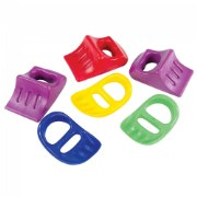 "Scoop, dig, and move sand with ease! Brightly colored, easy to grip, plastic sand tools. 7 1/8""L x 4 7/8""W."