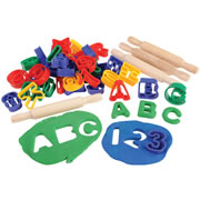 ABC & Numbers Dough Cutter Set