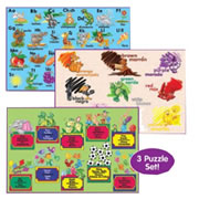 Bilingual & Spanish Floor Puzzles (Set of 3)