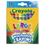 Crayola® Large 16-Count Washable Crayons (12 Boxes)
