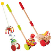 Whimsical Push Toy Trio