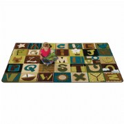 Nature Alphabet Blocks Carpet - 8' x 12'