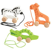 Push & Pull Animal Set (Set of 3)