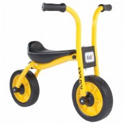 "3 - 5 years. The Balance Bike uses two solid wheels to encourage a sense of balance and blooming motor skills. Children gain a feeling of safety and security as they learn to balance and glide astride their very own vehicle. Measures 29""L x 19""W x 23""H."