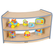 K System® Shape-A-Space™ Curved Storage with Clear Acrylic Back