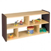 Toddler Storage Unit with See-Thru Acrylic Back