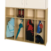 Four Section Coat Locker Unit