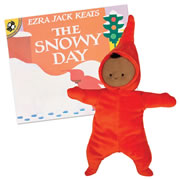 The Snowy Day Board Book and Doll Set