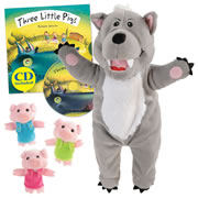 Three Little Pigs Puppet and Story Set