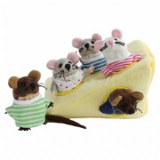 Mouse Family in Cheese Puppet