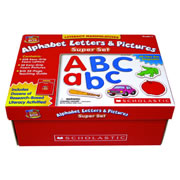 PreK & up. Help children make literacy connections with this expansive set. Includes 228 color-coded magnetic foam letters, in both upper and lowecase; 52 foam pictures; and a 32-page teaching guide.