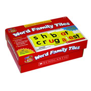 Grades K - 2. 98 magnetic foam tiles including 42 word families, 56 consonant letters, and a teaching guide.