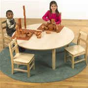"Maple Classroom Table 48"" Round: 12"" Legs"