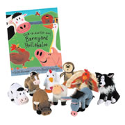 Barnyard Book & Puppet Set