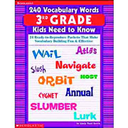 240 Vocabulary Words For 3rd Graders