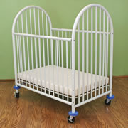 Arched White Mini Crib