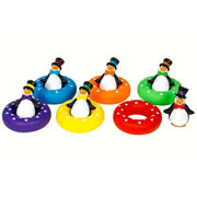 "2 years & up. Learn color recognition and hand-eye coordination with this set of 6 penguins. Match the hat or bow tie to the correct color inner tube! Penguins measure 3 1/2"" x 2 3/4""; inner tubes measure 4 1/4"" across."