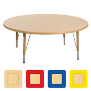 "Nature Color 48"" Round Table 21-30"" Adjustable Legs"