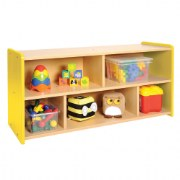 Nature Color Toddler Storage Shelf Unit