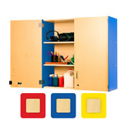 "Nature Color 36"" Locking Wall Storage"