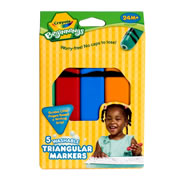 Crayola® 5-Pack Washable Triangular Markers (12 boxes)