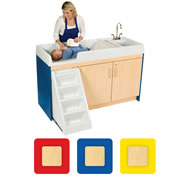 Toddler Walk Up Changing Center - Left Sink