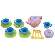 Eco-Friendly Plastic Tea Set