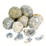"3 years & up. These large size geodes break open easily. They will amaze and delight your little scientist. Hollow in the center due to crystal formations, each one contains clues about the mystery of the formation of our earth. each piece measures approximately 1 - 1 1/2"" diameter. Set of 10."