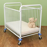 Metal Evacuation Window Crib - White