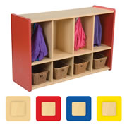 4 Section Toddler Coat Locker