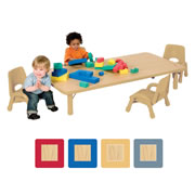 "Nature Color Toddler Rectangular Table 24"" x 48"""