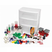 Grades 2 & up. From magnets to measurement, you'll be ready for endless experiment possibilities with this Elementary Science Classroom Starter Set. Includes over 170 accessories that store in a convenient three-drawer cart with wheels.