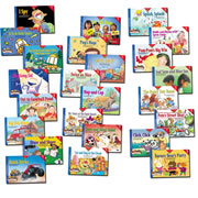 PreK - Grade 1. This series is rooted in current, cutting-edge phonics research. The combination of fun, high-interest stories that kids read over and over with a progression of skill that bound from book to book allows children to read successfully while learning their letters and sounds, rather than only after they learn these concepts. Includes one each of 24 books. CDs sold seperately.