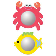 Crab & Fish Mirror Set (Set of 2)
