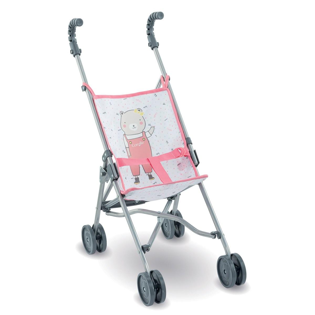 Corolle Umbrella Doll Stroller - Pink - Inspired by Stroller