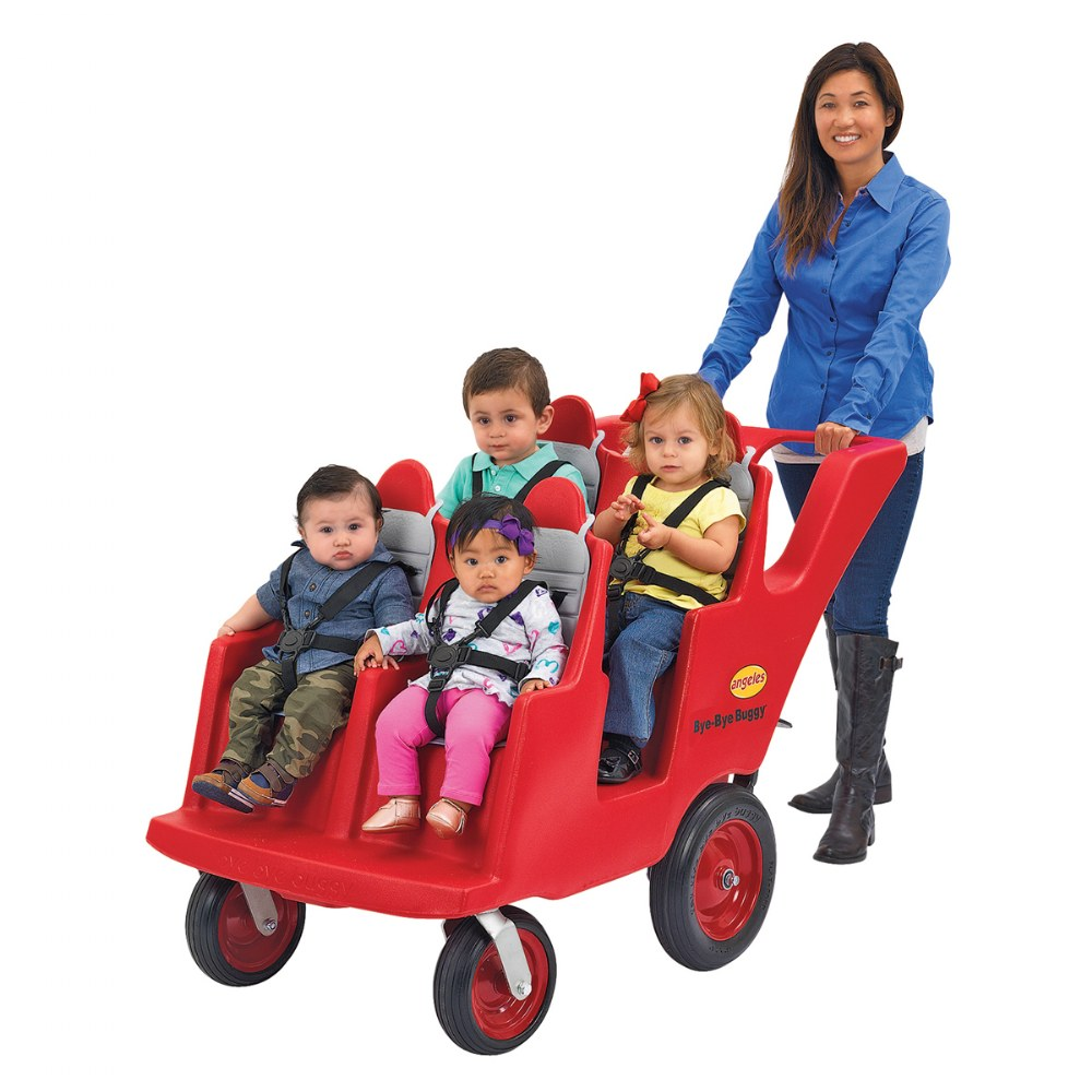 Alternate Image #1 of Fat Tire 4-Passenger Bye-Bye Buggy - Red