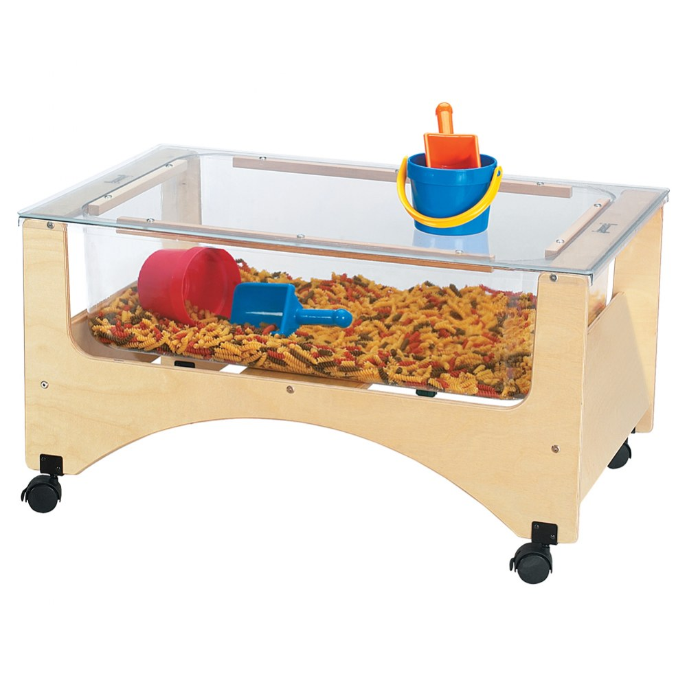 Alternate Image #1 of See-Thru Sensory Sand & Water Table - Toddler Height