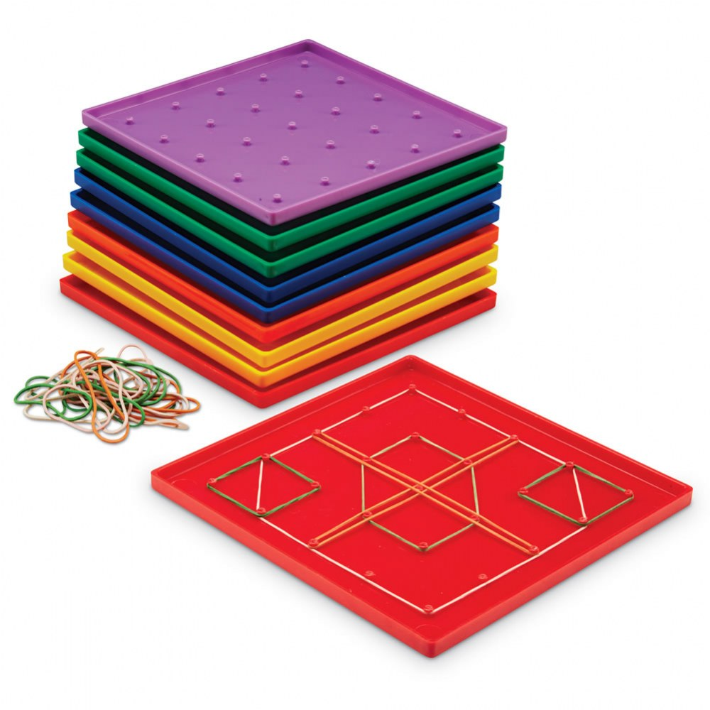 Plastic Geoboards - Set of 10