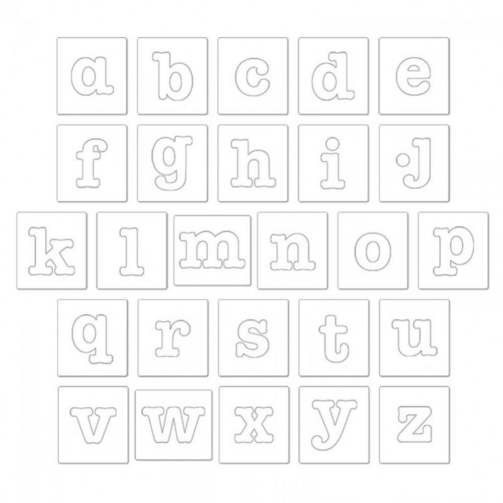 "Alternate Image #1 of Bigz Dies - 3 1/2"" Lowercase Letters - Set of 26"