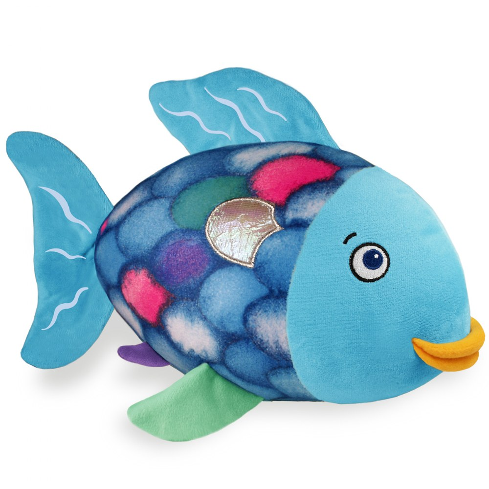 Alternate Image #2 of The Rainbow Fish Soft Plush Toy and Hardcover Book Set