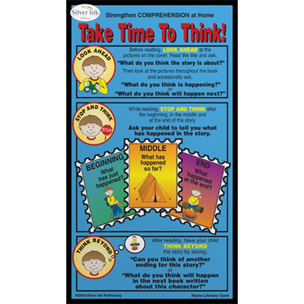 Comprehension Home Literacy Cards - Pack of 10 - English
