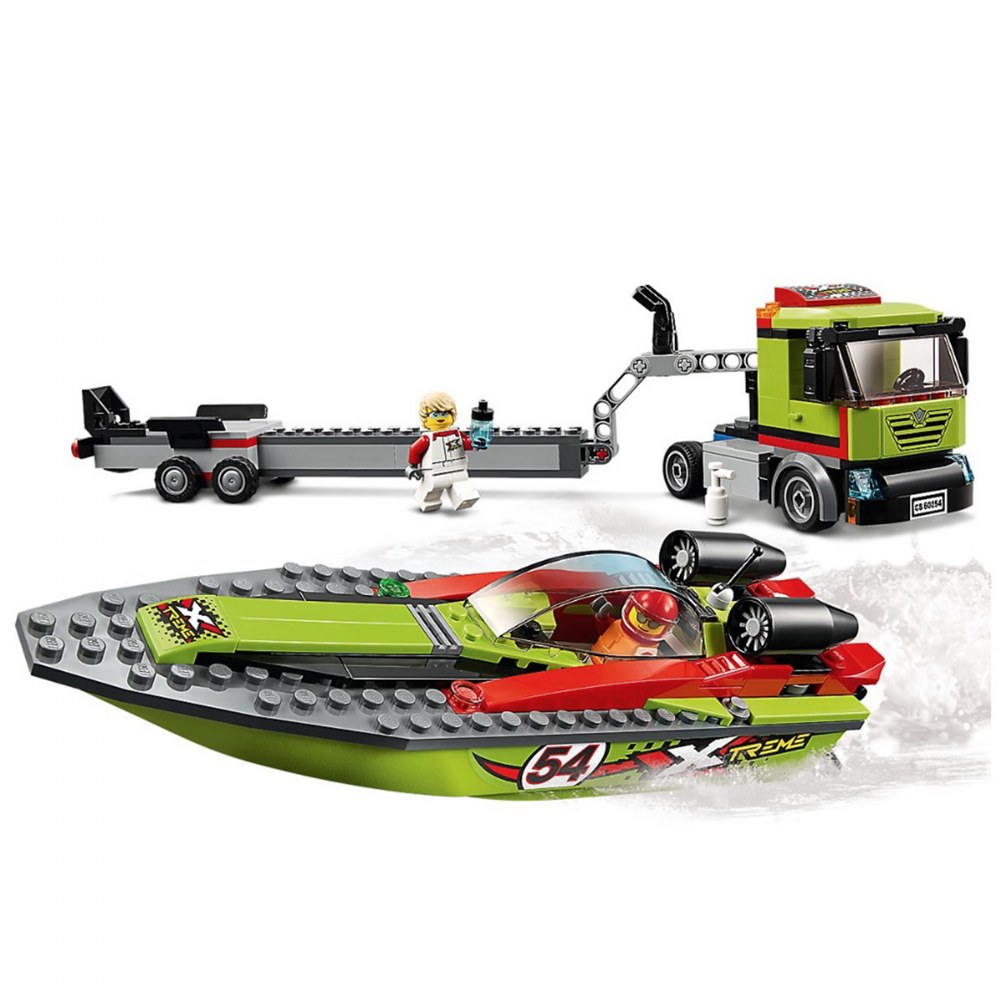 Alternate Image #1 of LEGO® City Race Boat Transporter - 60254