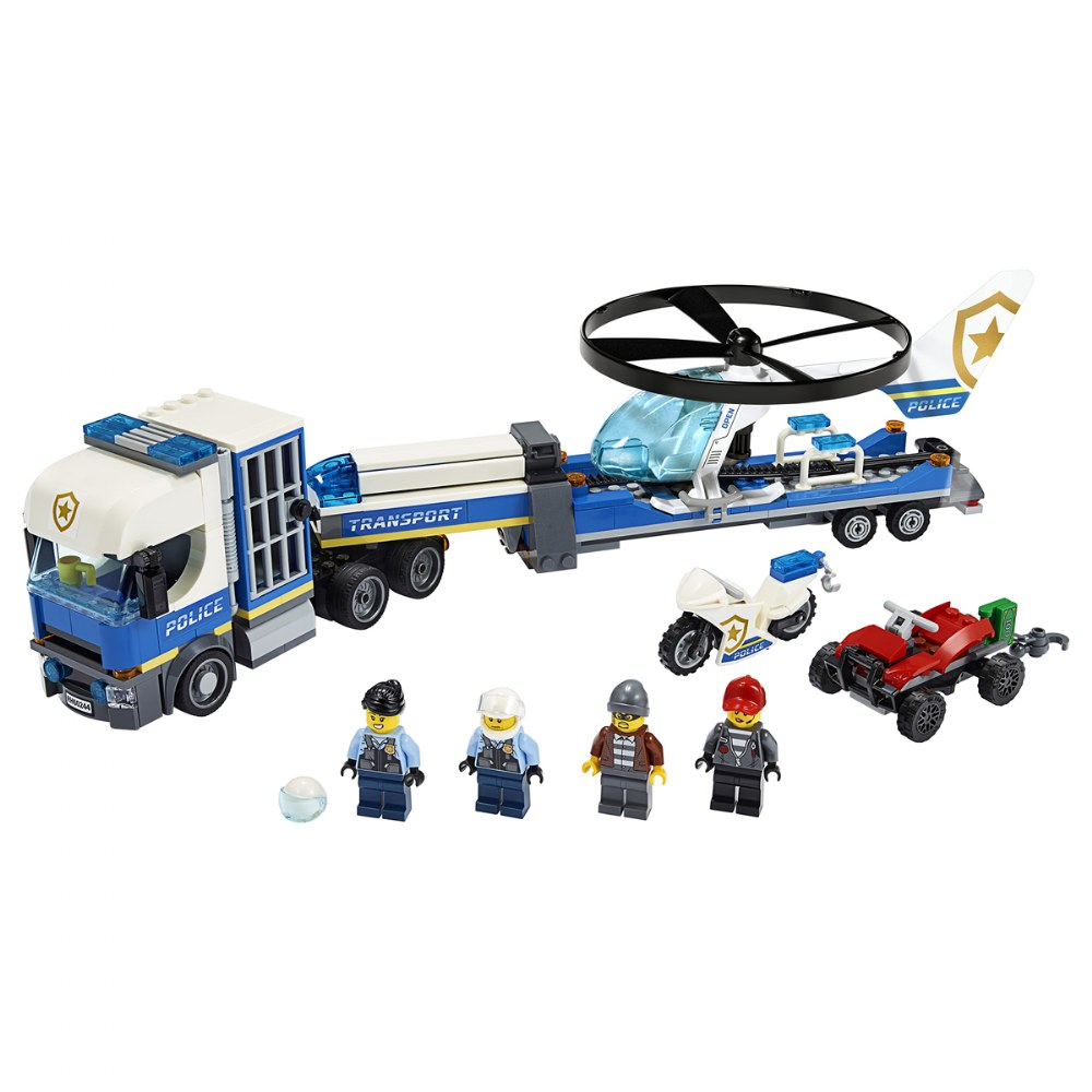 Alternate Image #1 of LEGO® City Police Helicopter Transport - 60244