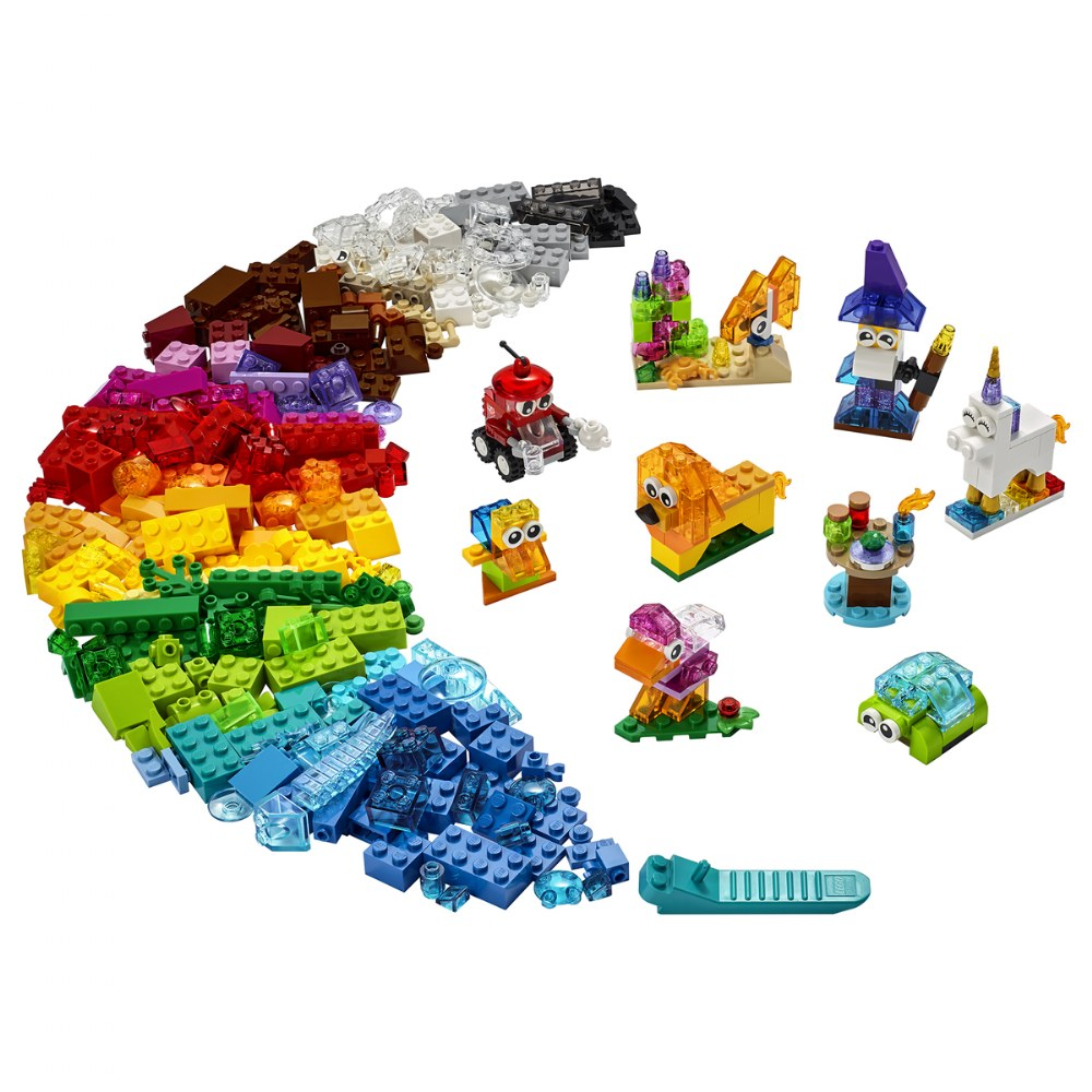 Alternate Image #1 of LEGO® Classic Creative Transparent Bricks - Mixed with Solid Bricks - 11013