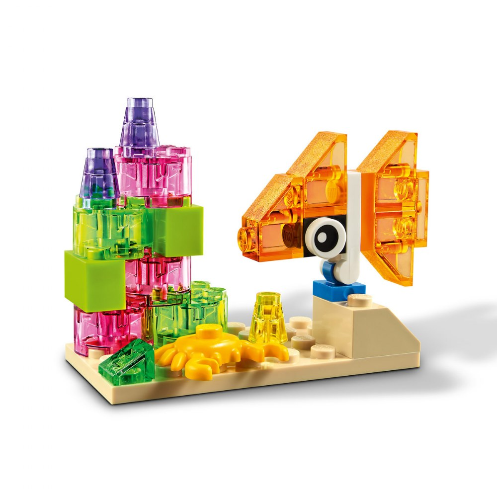 Alternate Image #4 of LEGO® Classic Creative Transparent Bricks - Mixed with Solid Bricks - 11013
