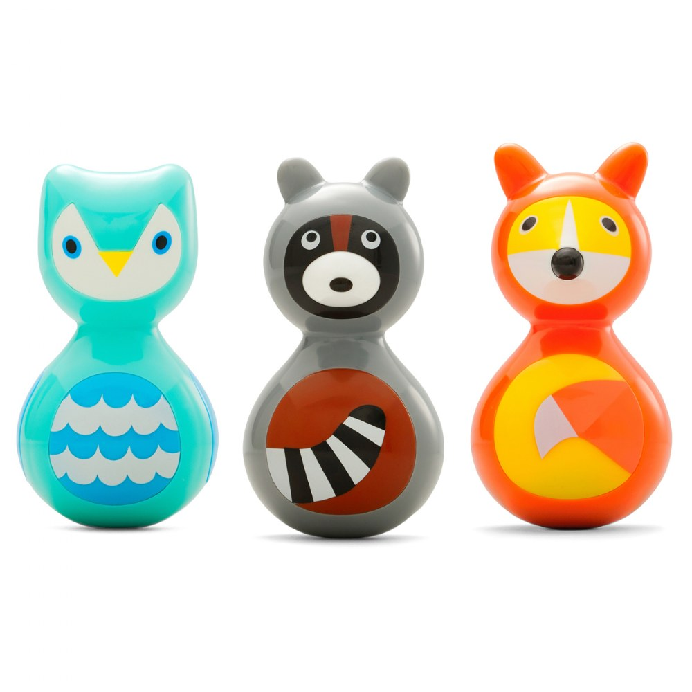 Woodland Animals Wobble Toys