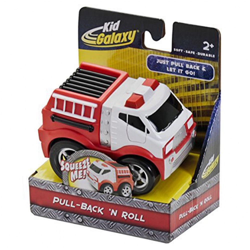 Alternate Image #6 of Pull-Back Bulldozer, Fire Truck and Police Car