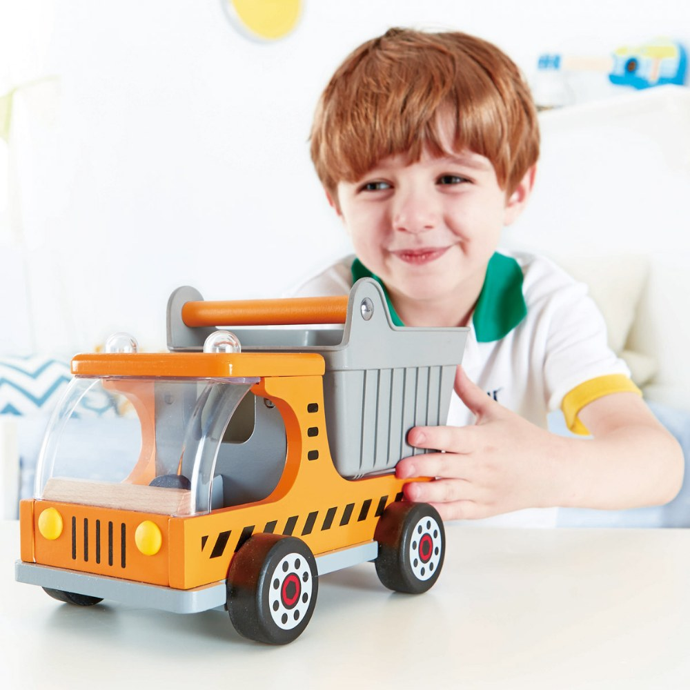 Alternate Image #2 of Playscapes Wooden Construction Toy Dump Truck